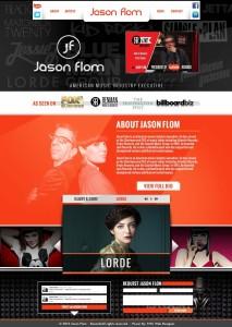 Jason Flom website design