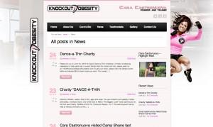 Knockout obestiry website design 1