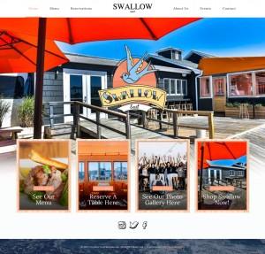 Swallow east website design