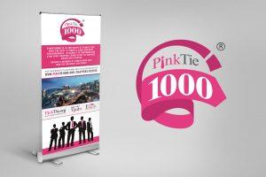 pull up banner pinktie1000