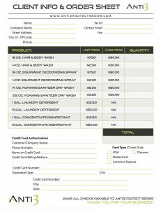 Anti3 Price Sheet