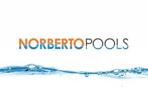 Norberto pools logo water