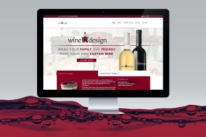 Wine u design website computer