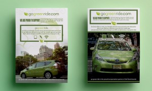 Go green Ride two posters