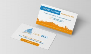 LEap Edu Business Cards