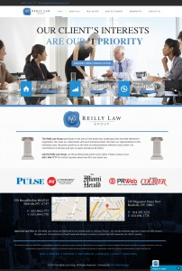 The Reilly Law group website