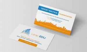 Leap Edu Business Card Design