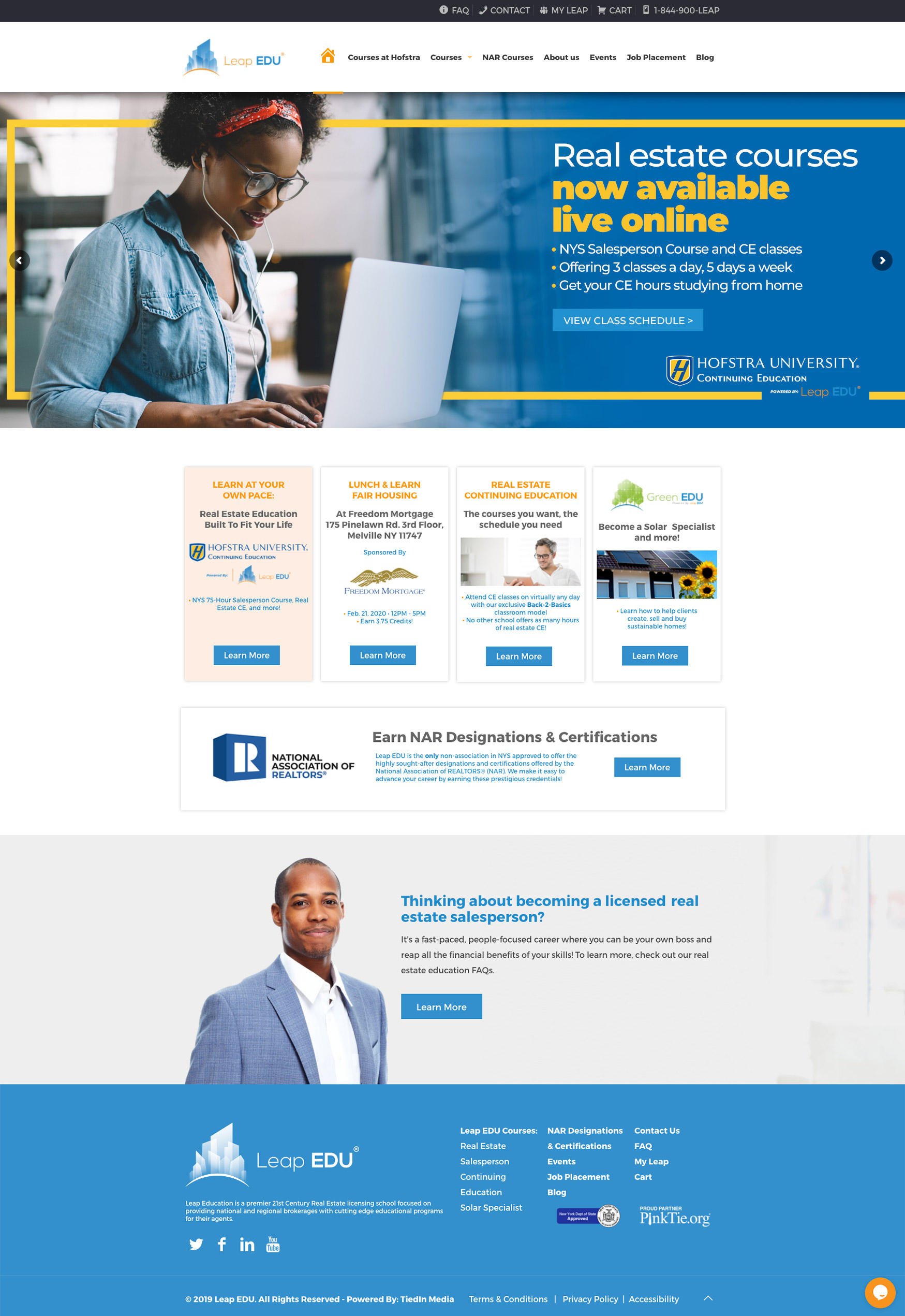 Leap Edu Website Homepage Design