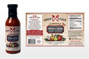 Jensens Kitchen Label Design Sriracha