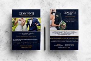 Giorgenti wedding flyer