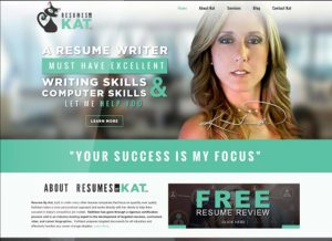 Resumes by Kat header