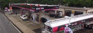 Aerial Image Of Gas Station