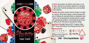 Lucky Sevens Strawberry Waffle Label Design