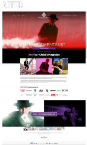 Modern Mentalist Kevin Nicholas Website Layout
