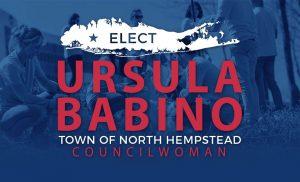Ursula Babino logo white/red