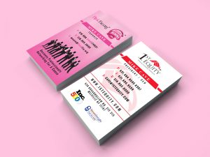 Tiedin Media Pinktie business cards
