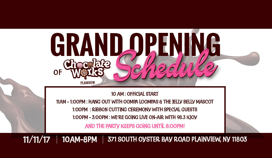 Chocolate works grand opening