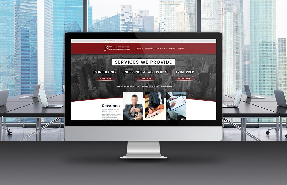 VR Management website imac