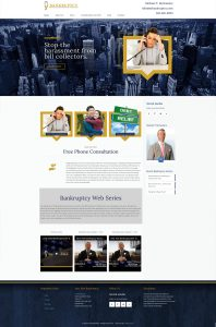 NY Bankruptcy Homepage design