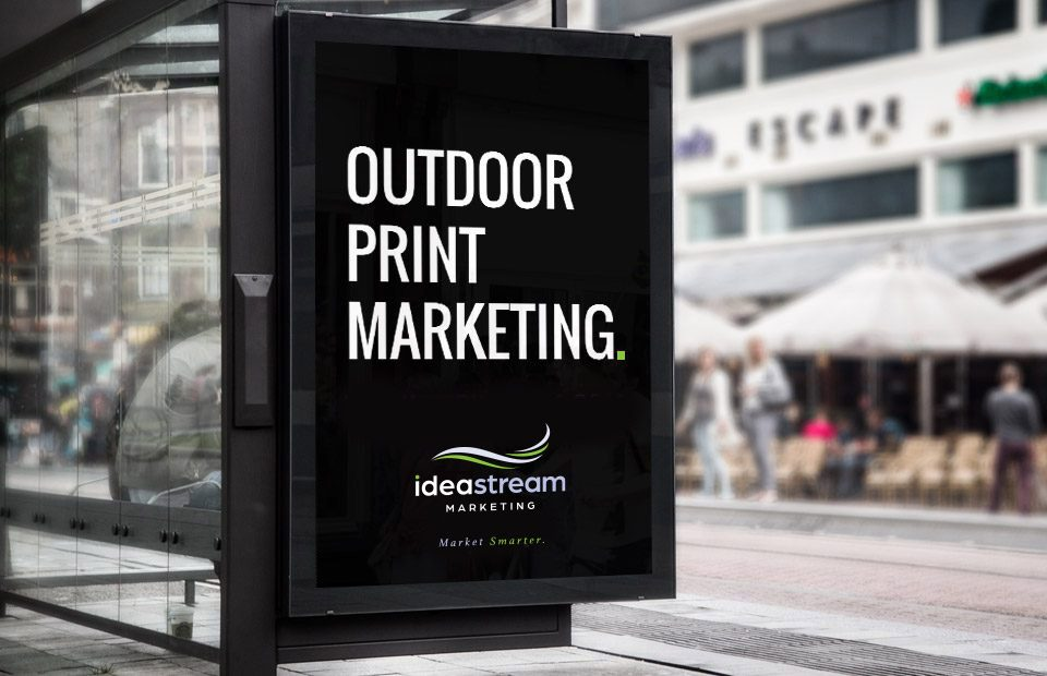 Outdoor marketing sign