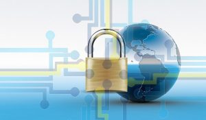website security lock and world