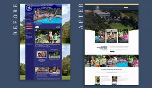 Thomas School of horsemanship before and after website design