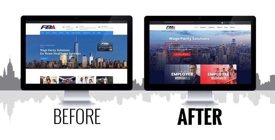 FBA National website before and after