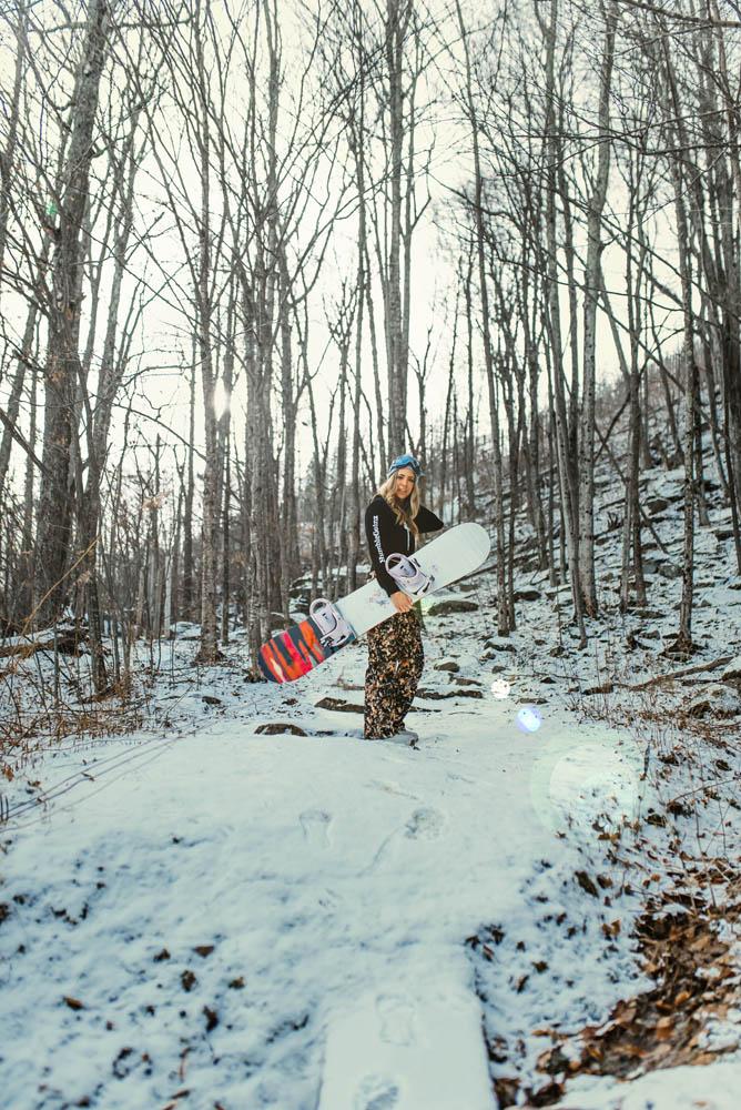 Humble Gainz snow boarding mountain