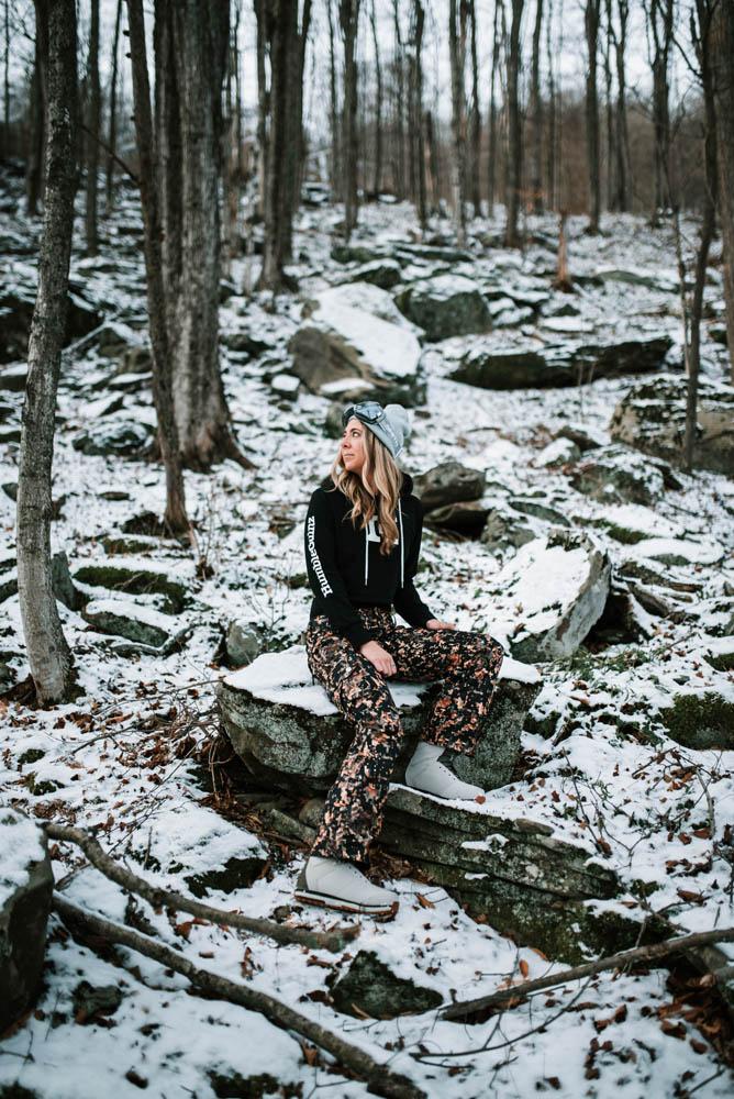 Humble Gainz sitting on rocks