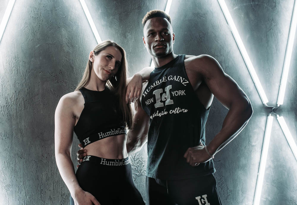 Humble Gainz black outfits