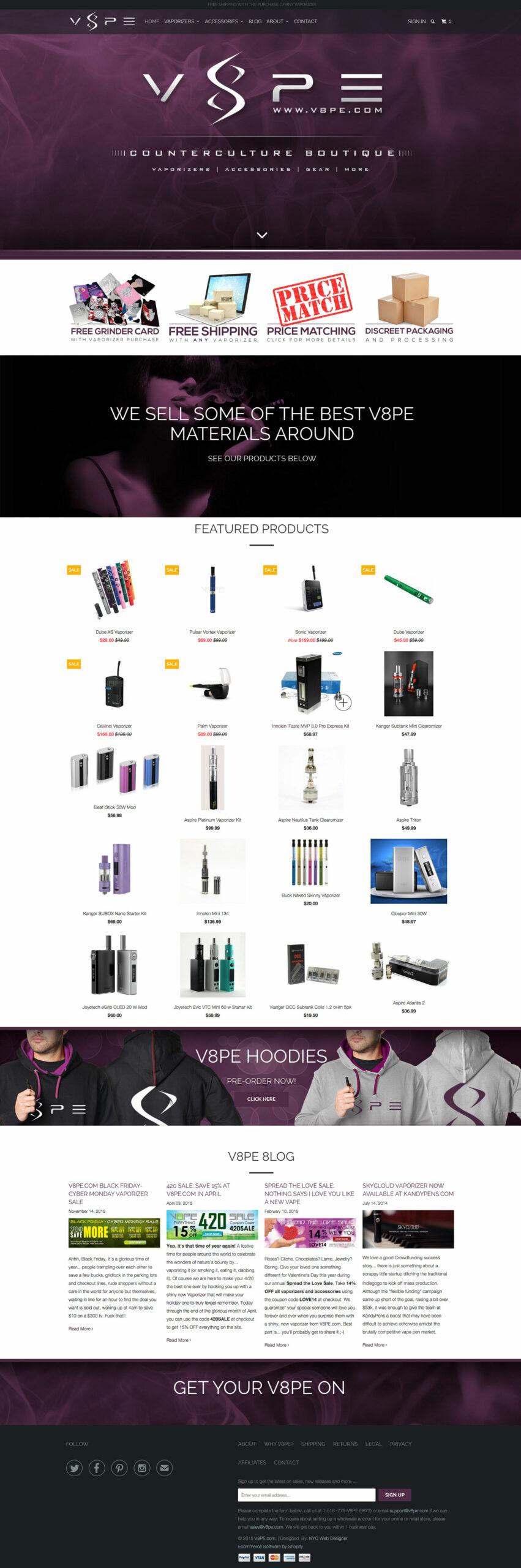 V8pe-Homepage-design