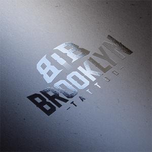 808 Brooklyn Tattoo Logo mockup