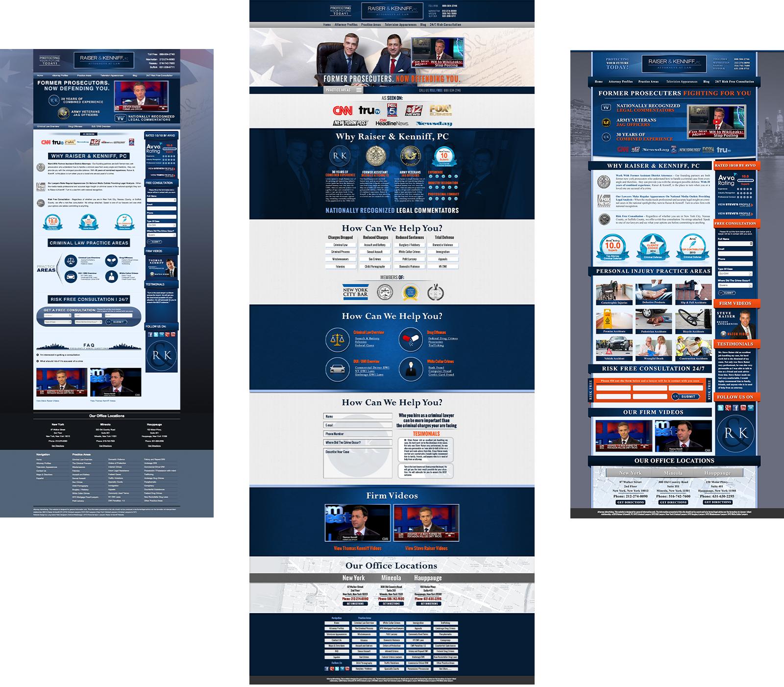 Raiser Kenniff 3 website designs