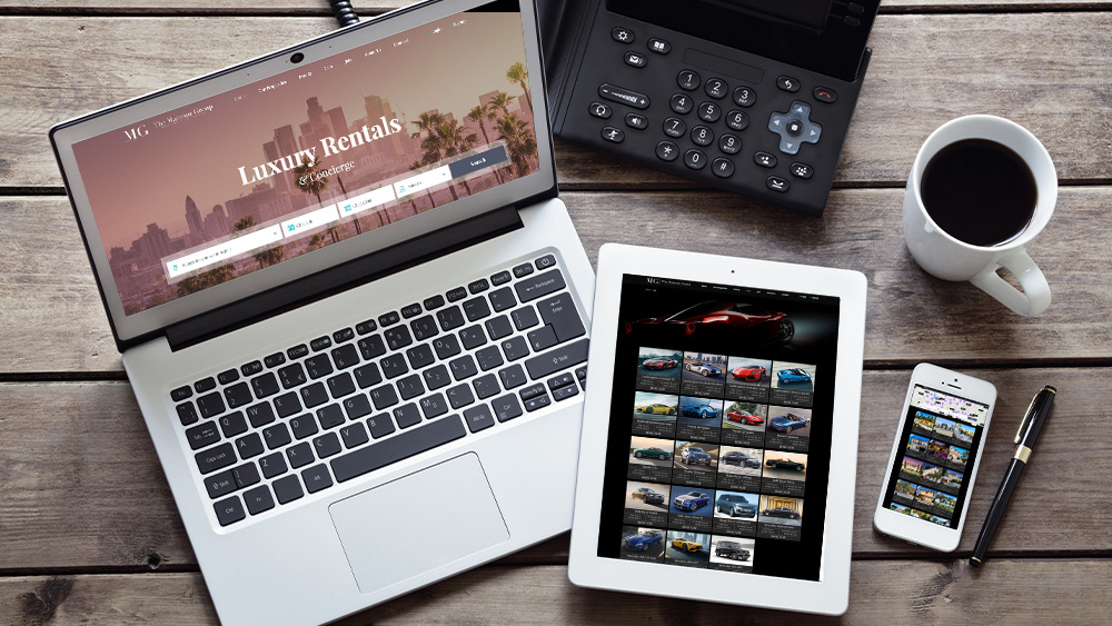 luxury home rental website design