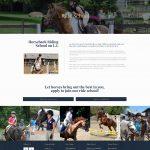 Thomas School of Horsemanship website ride school page