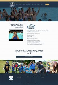 Thomas School of Horsemanship website daycamp page