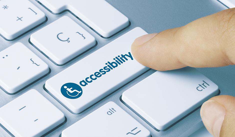 Pressing accessibility button