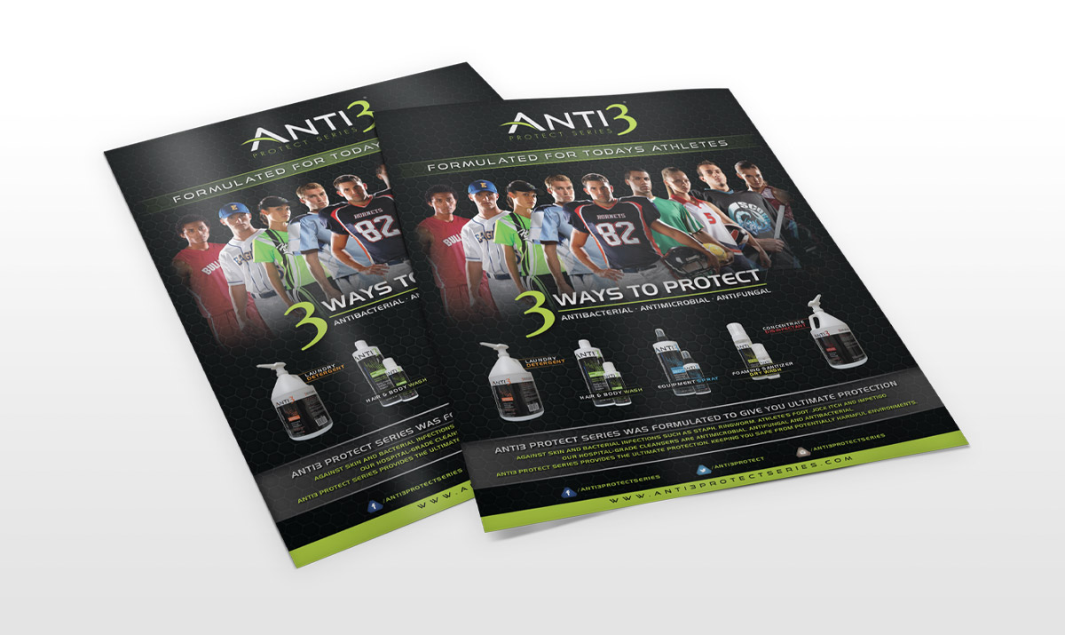 Anti 3 Protect Series letter head posters
