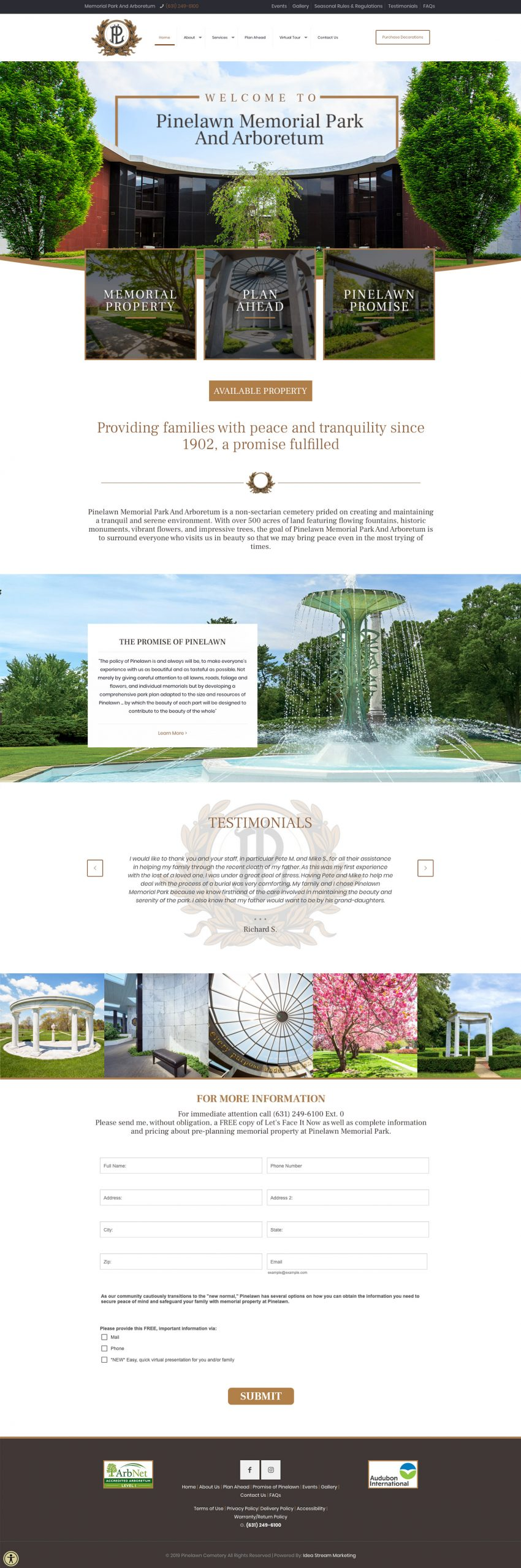 Pinelawn Memorial Park And Arboretum