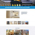 Warsaw Construction website design portfolio page mockup