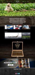 Rock a feller cigars website design mockup