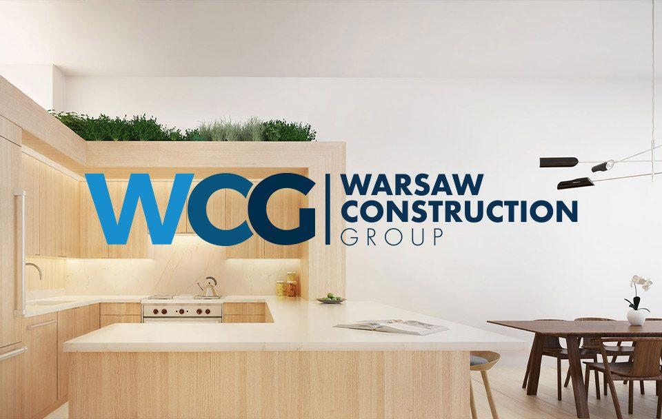 Warsaw Construction logo mockup