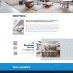 Warsaw Construction website design homepage mockup