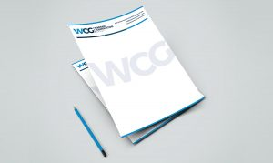 Warsaw Construction letterhead design mockup