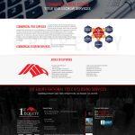 1st Equity website design commercial page mockup