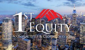 1st Equity logo of new york city skyline