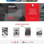 1st Equity website design homepage mockup