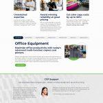 CCP website design homepage mockup